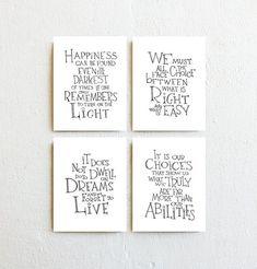 Harry Potter Kunst print Albus Dumbledore Zitate von SimpleSerene