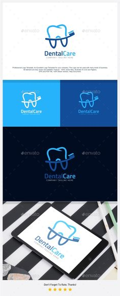 Dental Tooth Care Logo by putracetol Professional Logo Design Template.Professional Logo Design Template, An Excellent Logo Template for your Company. The Logo can be
