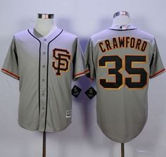 giants 35 brandon crawford grey road 2 new cool base stitched mlb jersey