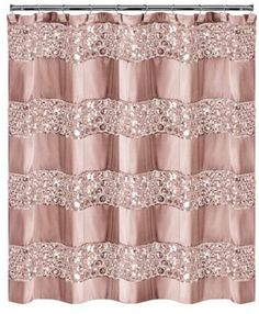 Sinatra Shower Curtain In Blush - The Sinatra Shower Curtain brings style and elegance to your bathroom. This chic shower curtain is designed with sequined panels for added flair. Coordinate with other Sinatra bath accessories for a complete look. Sequin Shower Curtain, Striped Shower Curtains, Custom Shower Curtains, Fabric Shower Curtains, Sequin Curtains, Luxury Shower Curtain, Elegant Shower Curtains, Swag Curtains, Shower Curtains Walmart