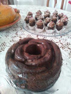 Torta de flor chocolate