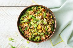 Toasted Brown Rice Bowl with Cashews, Sesame, and Green Beans | HelloFresh Recipe