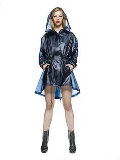 SHINJUKU - Parka with oversized hood Midnight Blue