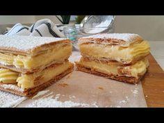 Milhojas de crema pastelera. Así de fácil y así de rica !!! - YouTube Croissant, Cake Recipes, Dessert Recipes, Desserts, Tasty Videos, Sweet And Salty, Cake Pops, Tiramisu, Bacon