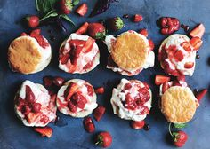 Strawberry-Basil Shortcakes Recipe - Bon Appétit