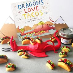 hello, Wonderful - DIY TINY MINI TACO CAKES INSPIRED BY DRAGONS LOVE TACOS BOOK