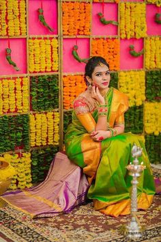 These Trending Mehndi Decoration Ideas Will Definitely Make Your Mehndi an Event to Remember Desi Wedding Decor, Wedding Stage Decorations, Wedding Mandap, Backdrop Decorations, Flower Decorations, Arch Decoration, Engagement Stage Decoration, Marriage Decoration, Indian Baby Showers