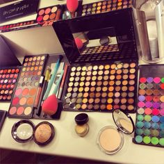 In the studio  Which one to choose?! #makeup #studio #colors #colorful #gettingready #beauty #beautiful #cosmetics #eyeshadow #palette #foundation #brush #brushes #skin #pretty #blog #fashion #style #love #look #lipgloss #sponge #mirror #fashionblog #fashionista #blogger @desnjen Makeup Studio, Foundation Brush, Eyeshadow Palette, Lip Gloss, Brushes, Colorful, Cosmetics, Mirror, Pretty
