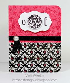 CTMH Monogram card with For Always paper packet.  by Vicki Wizniuk, CTMH Independent Consultant