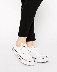 Converse   Converse Chuck Taylor All Star Core White Ox Trainers