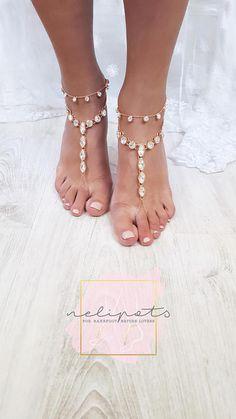 Rose Gold anklet Rose Gold Ankle Bracelet Clover bracelet