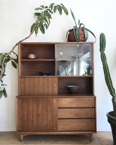 Image of Mid-Century Hutch by Kroehler