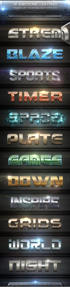 12 Awesome Lighting Text Effect Styles   ActionsDescription 12 Awesome lighting text effect styles   actions, with high quality ca