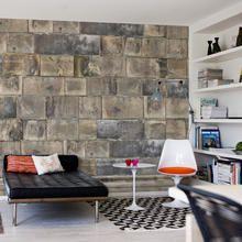 Sandstone Bricks wallpaper mural designed by Mr Perswall/Niclas Dahlgren Stone Wallpaper, Wallpaper Decor, Design Your Own Wallpaper, Youth Group Rooms, Brick Room, Scandinavian Wallpaper, Wallpaper Manufacturers, Interior Walls, Soft Furnishings