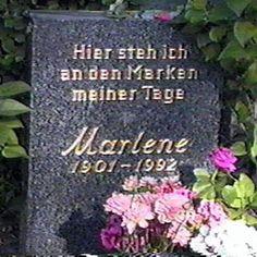Marlene Dietrich   Burial:  Berlin-Schöneberg (Friedhof Schöneberg III) Friedenau (Berlin)  Berlin, Germany