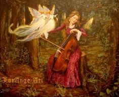 fairy faery fairies faeries Fantasy fae music cello trees woods forest Cello Spell  ©Marcel LorAngeCello Spell©