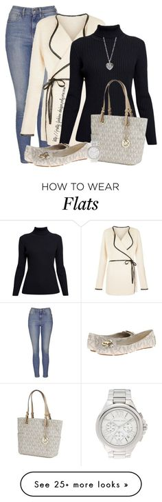 """~ Michael Kors Flats ~"" by pretty-fashion-designs on Polyvore featuring Topshop, Blue Vanilla, Rumour London, MICHAEL Michael Kors, Michael Kors and Finn"