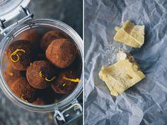 orange ginger truffles