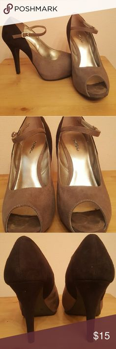 Selling this XAPPEAL Tan and Brown Peeples Toe Pumos on Poshmark! My username is: wildconsign. #shopmycloset #poshmark #fashion #shopping #style #forsale #Xappeal #Shoes