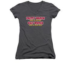 Pretty Women Juniors Sheer Cap Sleeve V-Neck T-Shirt