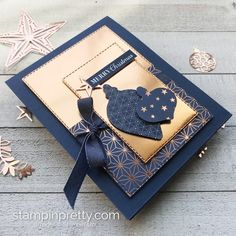 Simple Saturday: Brightly Gleaming Christmas Card