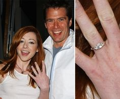Pin for Later: The Very Best Celebrity Engagement Rings Alyson Hannigan Buffy the Vampire Slayer costars Alyson Hannigan and Alexis Denisof met on set in 1999, and it wasn't long before they got engaged in December 2002.