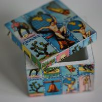 Small Boxes with Loteria Images, Made in Mexico