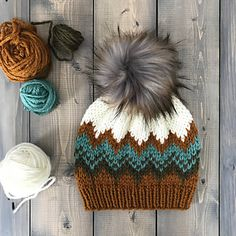 Quad Beanie Quad Beanie Quad Beanie knitting pattern by Lizzy Knits on Ravelry<br> Knit Headband Pattern, Beanie Pattern, Knitted Headband, Crochet Beanie, Knitted Hats, Knit Crochet, Crochet Hats, Fair Isle Knitting, Loom Knitting