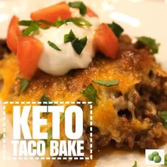 KETO Taco Bake is the perfect Taco Tuesday dinner (or Monday quick fix)! It is loaded with tons of flavor, comes together quickly and is low in carbs.  Link in profile    Trust me this will be a new Taco Tuesday favorite!!  .  #taco #tacocasserole