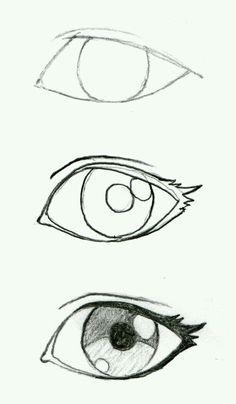 Some good eyelash info! JohnnyBro's How To Draw Manga: Drawing Manga Ey. Some good eyelash info! JohnnyBro's How To Draw Manga: Drawing Manga Eyes (Part I) - Drawing Techniques, Drawing Tips, Drawing Reference, Drawing Sketches, Sketching, Drawing Drawing, Eye Sketch, Eye Drawing Simple, How To Sketch Eyes