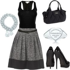 Love this Tiffany themed look!  Simple Chic, created by #blue-star-marie on #polyvore.