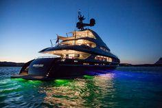 Nameless at night Abu Dhabi, Monaco Grand Prix, Super Yachts, Sea Level, Lily Collins, French Riviera, Luxury Lifestyle, France, Train