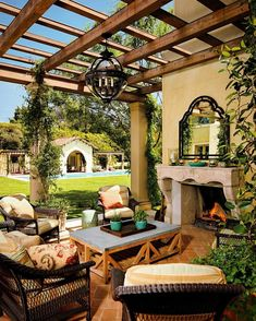 Patio With Pergola, Fireplace With Mirror, Orb Lighting, Great Space!
