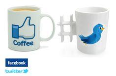 OFERTA EXCLUSIVA MEELOW! -  Las tazas mas sociales. Me gusta de Facebook o tuit de Twitter. ¿Tú de quién eres?.