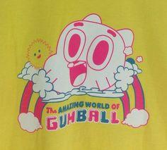 Amazing World Of Gumball T-shirt Large Cartoon Network Made USA Yellow Men Women #CartoonNetwork #GraphicTee