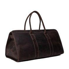 96313475183a Large Capacity Leather Men Travel Bag Unisex Dark Brown Luggage Bag MG32  Model Number  MG32
