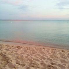 Cartoline dal Salento : Tramonto sulla spiaggia  #salentolovers #salento #puglia #holidays #vacanze #italy #mare