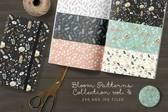 Bloom Patterns Collection vol.4 by Bloomart on @creativemarket