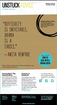 What to do if your life is tangled up in Drama Queen drama
