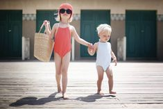 Fashionable little swimmers