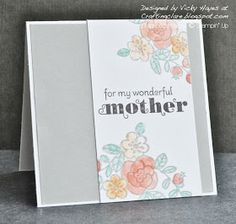 Stampin' Up ideas and supplies from Vicky at Crafting Clare's Paper Moments: So Very Grateful for mothers day