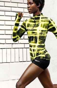 Nike 'Pro' Dri-FIT Printed Half Zip Top   Nordstrom