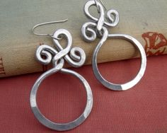Big Bold Earrings - Circle With a Twist Hoop Earrings