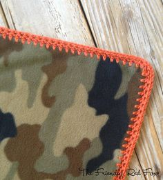 The Friendly Red Fox: Crochet Edge on Fleece Blanket Tutorial