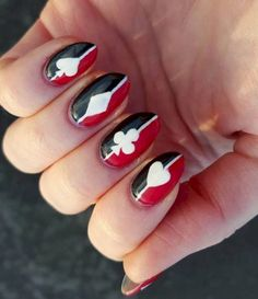 16 Red And Black Manicures Even Harley Quinn Would Be Jealous Of