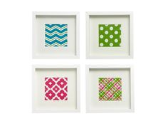 Framed Paper Napkins - Quick and Colorful Kitchen Upgrades on HGTV