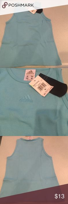 Turquoise Adidas Tank top size XL . Adidas Tops Muscle Tees