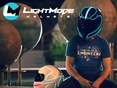 Transform your plain old motorcycle helmet into a fully functioning, head-turning, illuminating helmet with superior visibility.