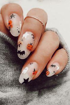 Cute Halloween Nails, Halloween Nail Designs, Halloween 2020, Diy Halloween, Halloween Desserts, Halloween College, Costume Halloween, Halloween Recipe, Holloween Nails