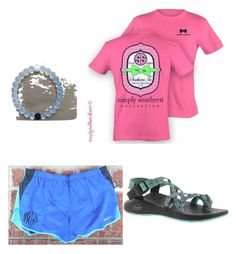 """""""everyday preppy"""" by legitmaddywill ❤ liked on Polyvore featuring moda, Everest e Chaco"""